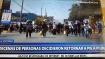 Decenas de personas deciden regresar a pie a Piura desde la capital.